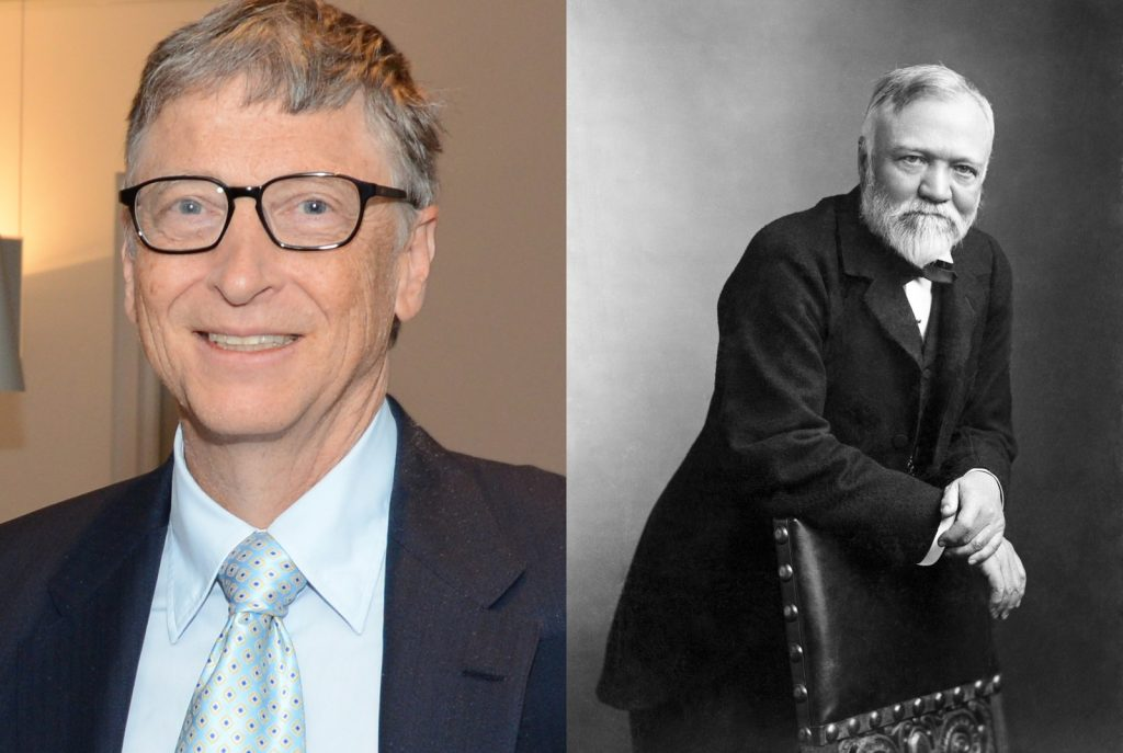 Bill Gates and Carnegie in Philanthropy